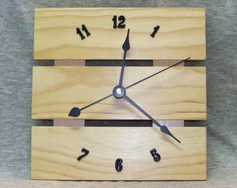 8 Inch Solid Pine Wall Clock with Silent Motor