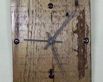 Charming Reclaimed Wood Wall Clock, 6x8 Inch, Silent Motor