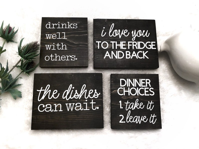 Superb Small Wood Block Signs Tabletop Decor Kitchen Home Download Free Architecture Designs Scobabritishbridgeorg