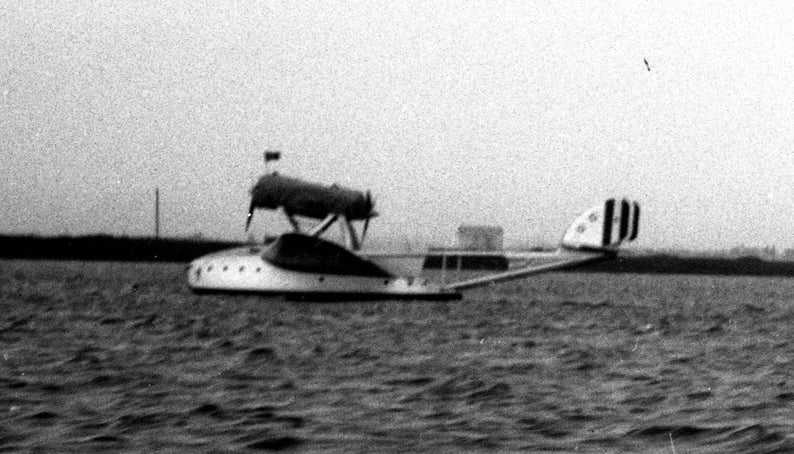 Five 2 34 x 4 12 Film Negatives Savoia-Marchetti Flying Boats on Long Island Sound Late 1920s Vintage Photos New York