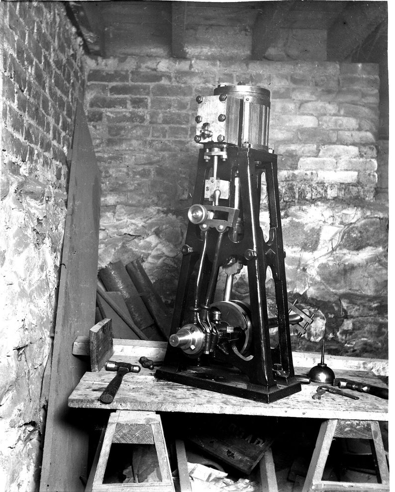 Estimated Early 1900s A Machine of Some Type Antique Photo 4x5 Inch Glass Photo Negative