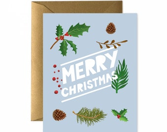 Merry Christmas Greeting Card / Blank Card