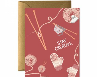 Stay Creative Greeting Card (KN171)
