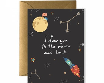 Galaxy Love Greeting Card