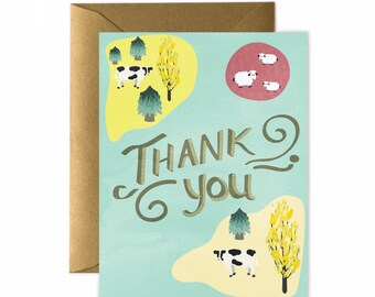Farming Thank You Greeting Card