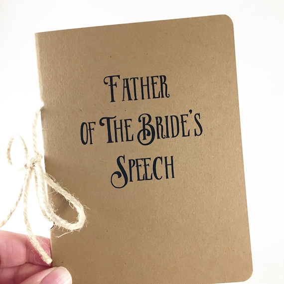 Father Of The Bride Speech Booklet/Wedding Note Book/Gift
