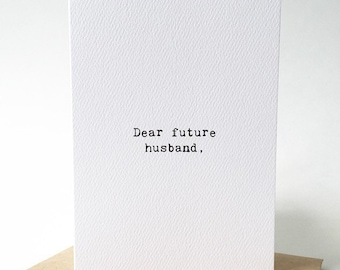 Wedding day card/Love note to future husband/Fiance card