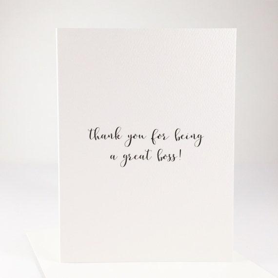 Thank You Boss Card Farewell Card Mentor Card Appreciation Etsy