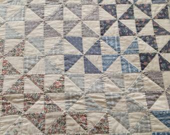 Hand Pieced Pinwheel Quilt