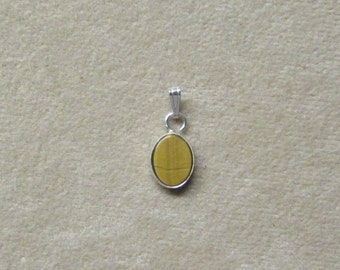 Delicate Tiger's Eye STERLING silver pendant.