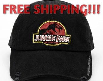 075c8367fd9 Retro Jurassic park hats cap