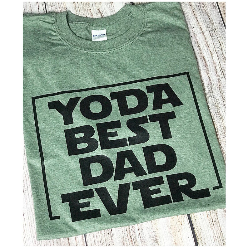 8c87c190b Customizable Star Wars Father's Day Yoda Best Dad Ever | Etsy