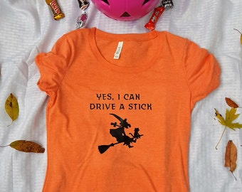 Yes I Can Drive A Stick Women's Fitted Tee