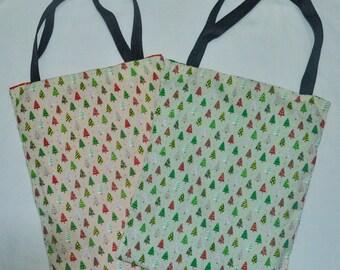 Nerditotes Handmade Handsewn Christmas Tree Tote Bag