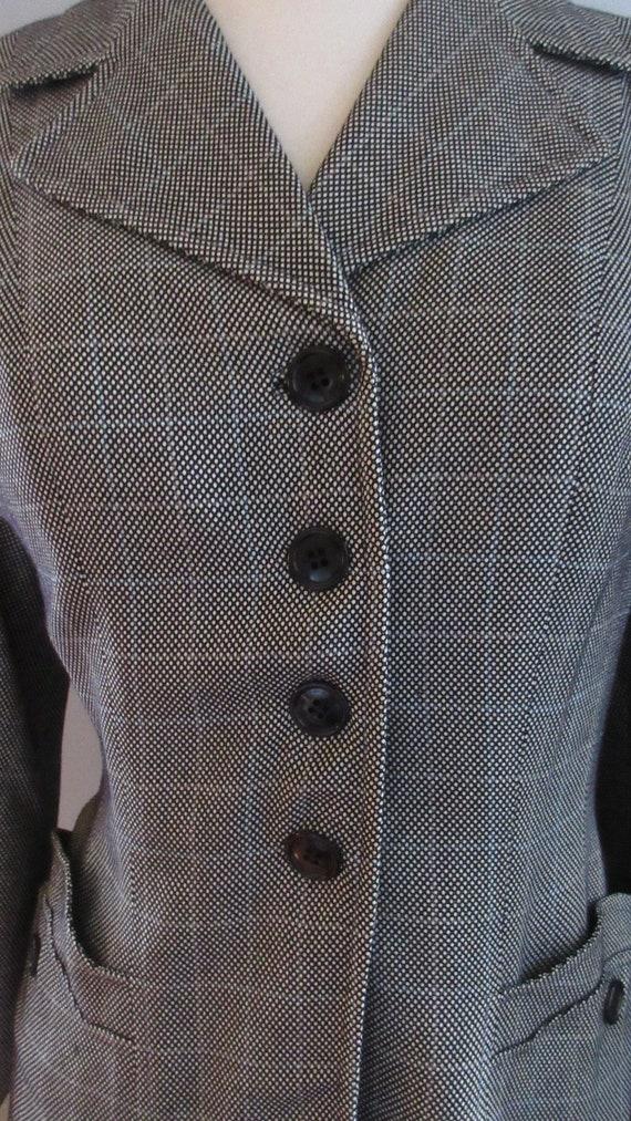 40s Joselli Plaid Skirt Suit - image 5
