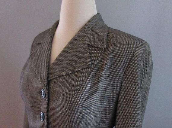 40s Joselli Plaid Skirt Suit - image 6