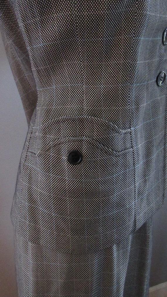 40s Joselli Plaid Skirt Suit - image 7