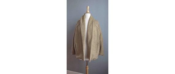 80s Houndstooth Cocoon Coat