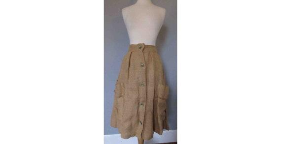 40s Burlap Skirt