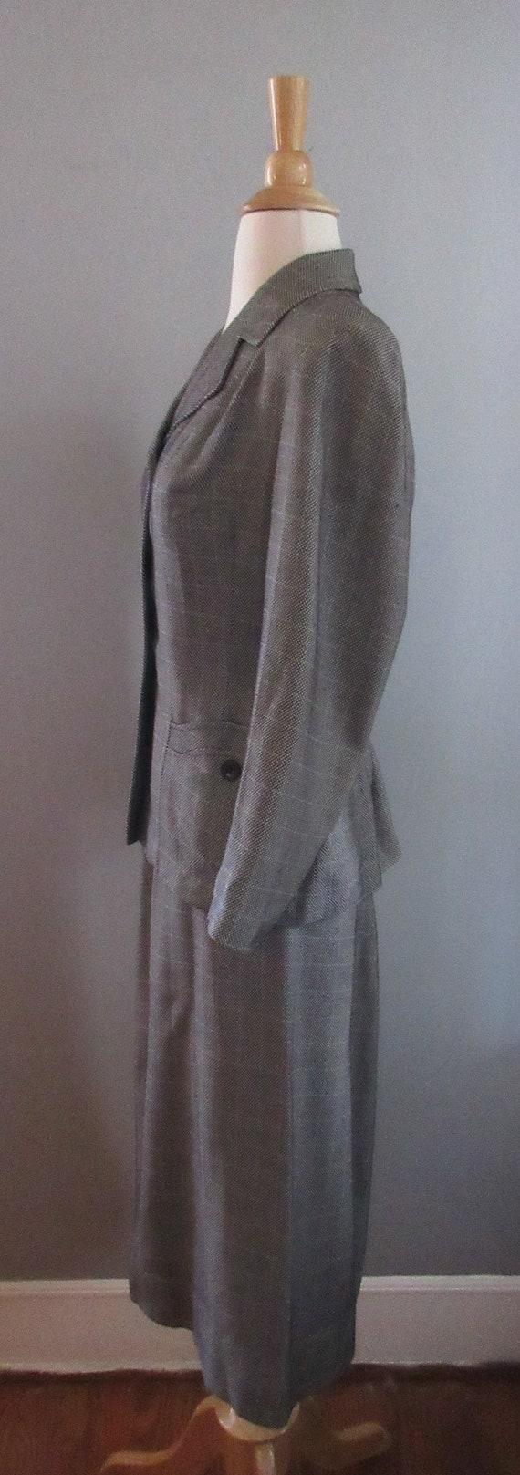 40s Joselli Plaid Skirt Suit - image 3