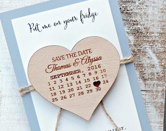 Calendar Save-the-Date Magnet, Calendar Wood Magnet, Wooden Magnet, Save The Date Magnet, Wooden Save The Date Magnet, Rustic Save The Date
