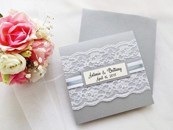 Graue Hochzeit Einladung Spitze Hochzeit Einladung Spitze