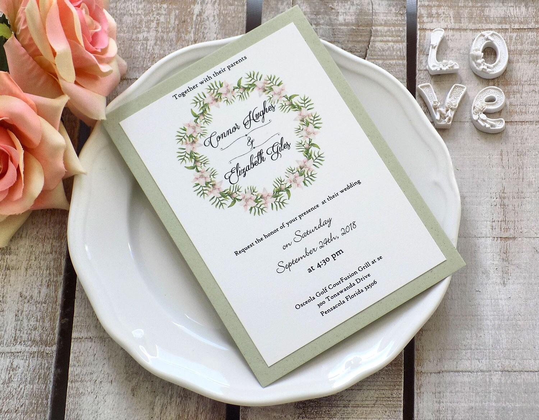 Custom Wedding Invitation Suite, Rustic Boho Wedding, Burlap Wedding ...