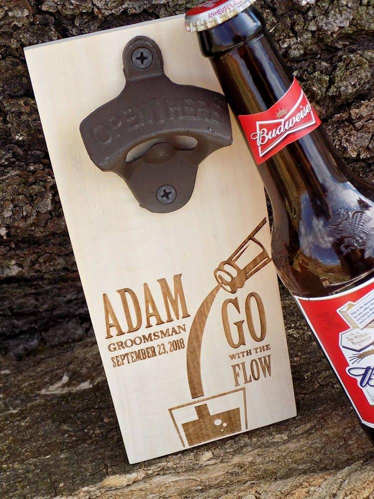 custom beer bottle opener groomsmen gift magnetic beer bottle