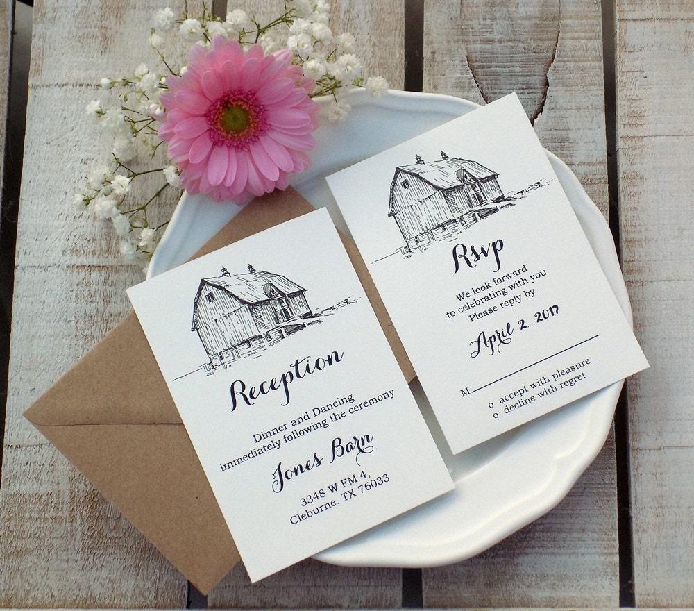 Barn Wedding Invite Farm Invitation Farm Wedding Rustic Wedding ...