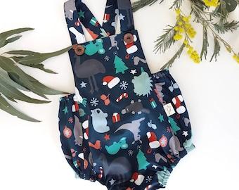 Christmas Baby Romper, Christmas Romper, Baby Romper, Christmas Baby Outfit, Australian Christmas, Australian Animal Christmas, Koala Romper