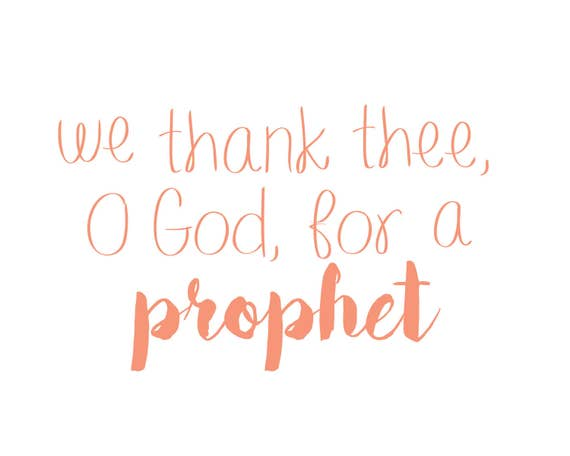 We Thank Thee O God For A Prophet Printable Etsy