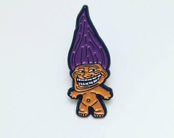 Trolly Troll Enamel Pin