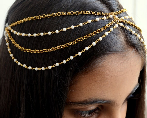 Indian Wedding Maang Tikka Maang Tikka Blue Stone Tikka Headpiece Kundan Maang tikka Maang Tika Hair Jewelry Head Piece Indian tikka