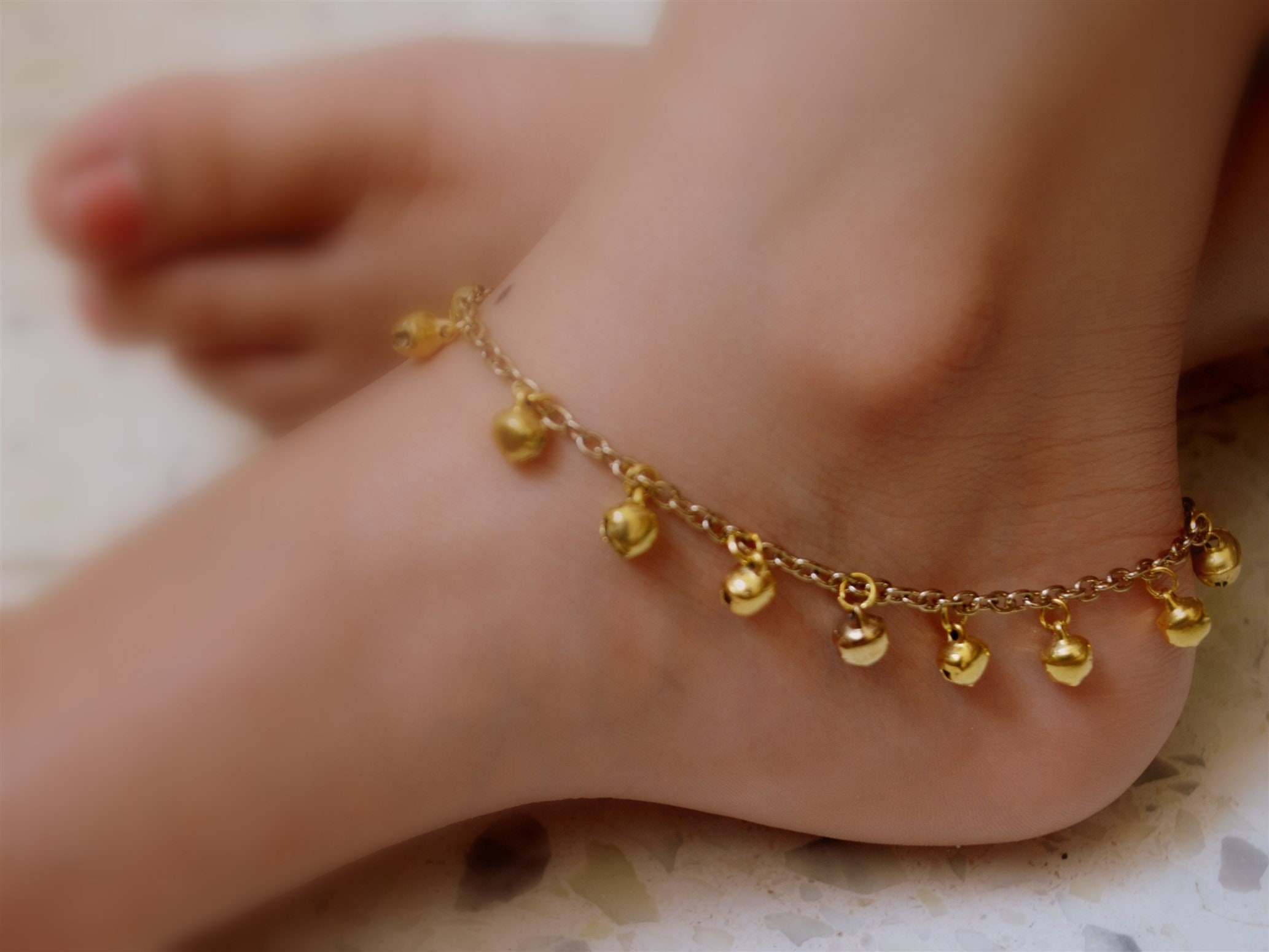 Barefoot Beach Wedding Jewelry Multi Strand Ankle Chain Gold Wedding Ankle Bracelet Bridal Anklet Traditional Indian Payal