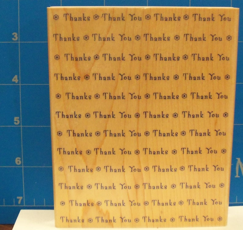 Thank you Rubber Stamp thank you notes journal scrapbook pages create greeting cards gift tags Hero Arts S1241 Background Image