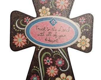 Trust In The lord With All Of Your Heart Decorative Cross