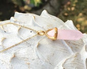 Rose Quartz Fertility Chain Fertility Conception Gold Pregnancy Birth