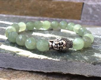 Buddha bracelet Aventurine 8mm mala bracelet