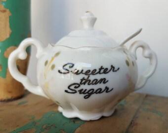 Vintage Tiny Sweetener Server