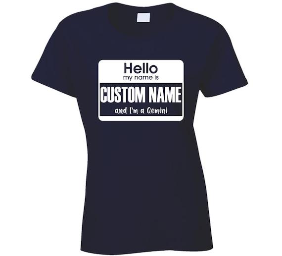 Hello My Name Is Astrology I Am Gemini T Shirt