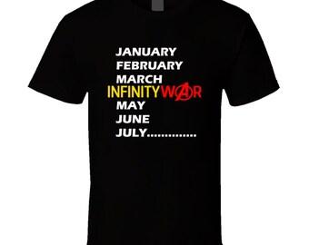 Month Of The Year Avengers Infinity War Movie Fan Superhero T Shirt