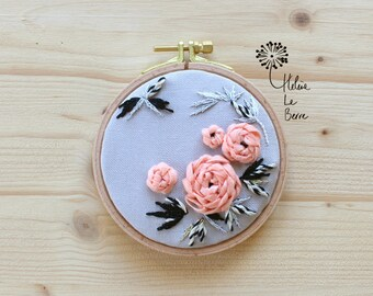 """""""RENONCULES"""" Embroidery Kit - Embroidery Kit """"RANUNCULUS"""""""