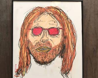RESERVED. Tom Petty portrait by Matty Cardarople