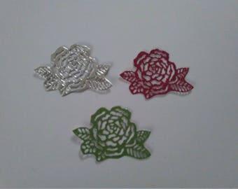 Rose Die Cut Embellishments