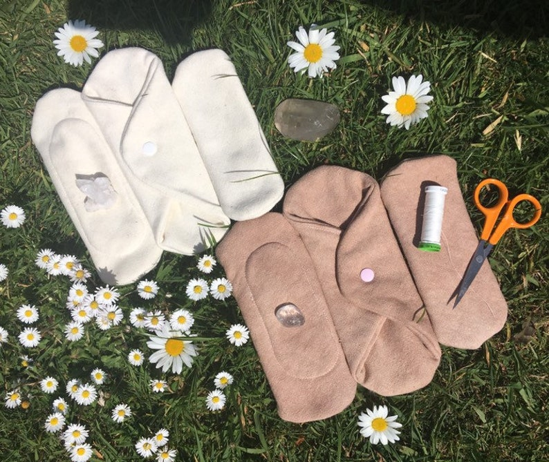 handmade cloth moonsanitary pads. MEDIUM days Organic HEMP