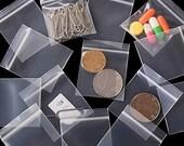 BULK 500 PCS Transparent Grip Zip Lock Plastic Bags 50mm x 50mm and 30mm x 30mm Premium Quality