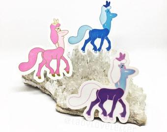 Crystal Centaurette sticker pack trio