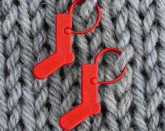 11 pcs Tiny Gunmetal Grey Sock and Shawl Stitch Markers