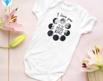 e9b12d5e2 I Love You To The Moon And Back Bodysuit, Space Baby Clothes, Cute Baby  Clothes, Baby Shower Gift, Baby Boy Bodysuit, Baby Girl Clothes