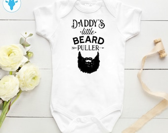 c8c9b0e18 Daddy's Beard Puller Bodysuit, Funny Baby Clothes, Daddy Gift, Baby Shower  Gift, Baby Boy Clothes, Baby Girl Clothes